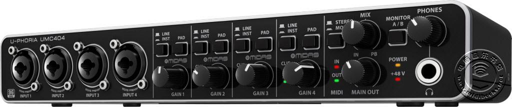 Behringer发布U-PHORIA UMC404 USB2.0专业音频接口
