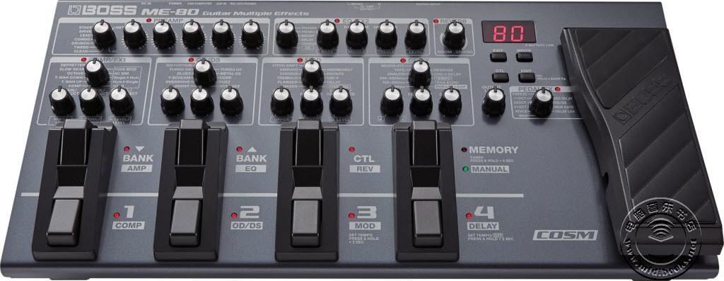 BOSS发布ME-80:吉他综合效果器