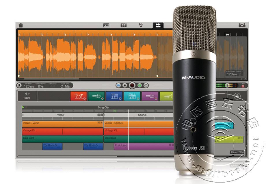 M-Audio发布较新的人声录音棚话筒