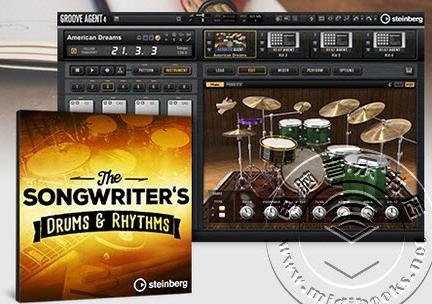 Steinberg发布Songwriter's声学鼓组音色扩展