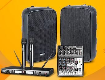 山逊 Auro X15D 音箱搭配得胜W80麦克风