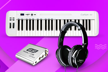 玛雅MAYA22搭配山逊carbon 49键盘