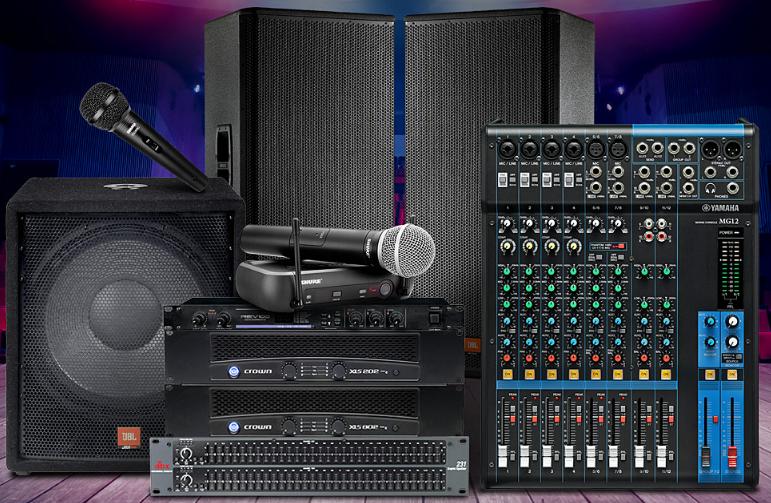 JBL JRX125 音箱搭配皇冠XLS 802D后级功放 舞台演出设备