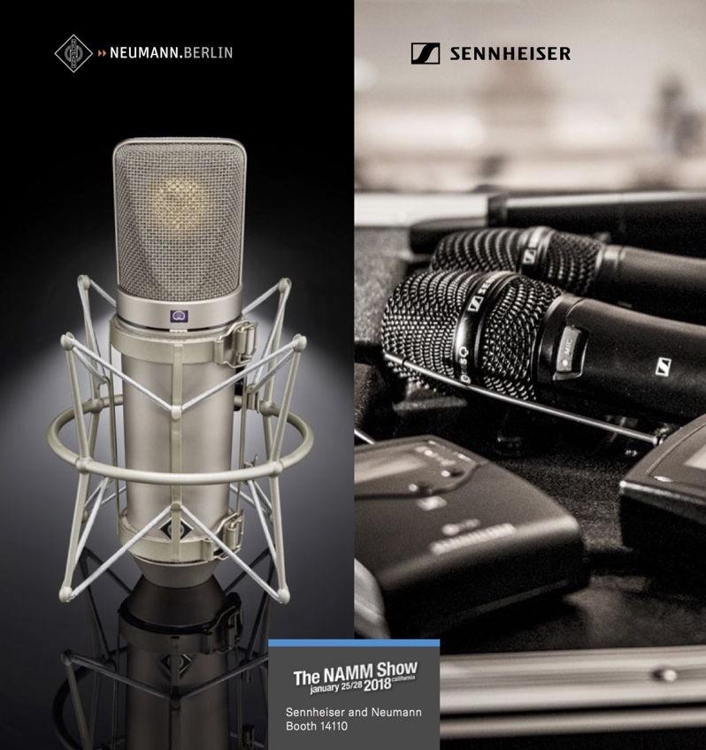Sennheiser 和 Neumann 将在 NAMM 2018 复刻 U 67 电子管话筒和新无线套装