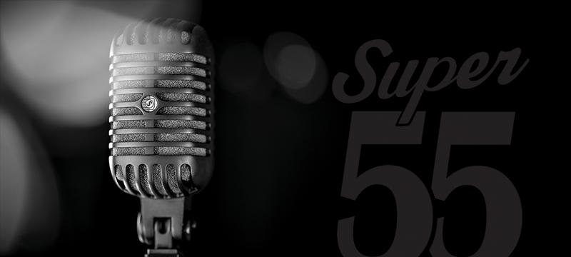 Shure 限量发行 SUPER 55 豪华人声话筒典雅黑版