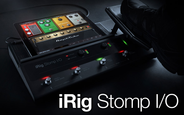 IK Multimedia 发布旗舰级音色控制设备 iRig Stomp I/O