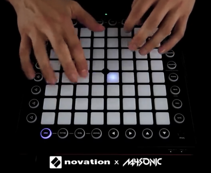 用 Novation Launchpad 演奏(M4SONIC - Octane)