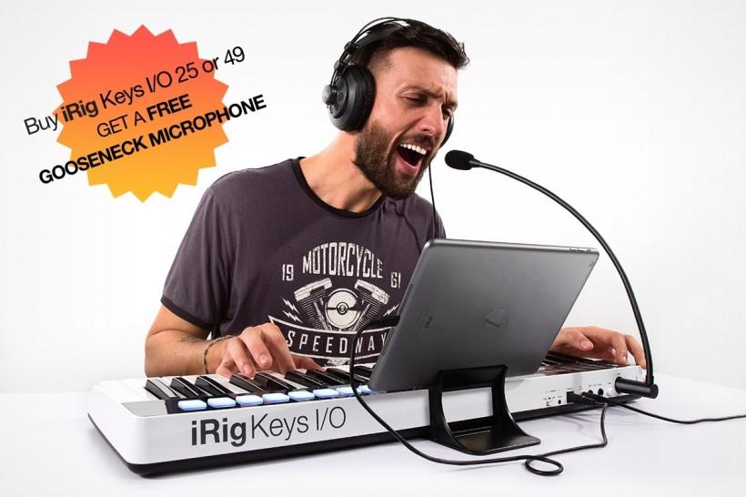 IK Multimedia iRig Keys I/O 限时活动:买就免费赠送麦克风