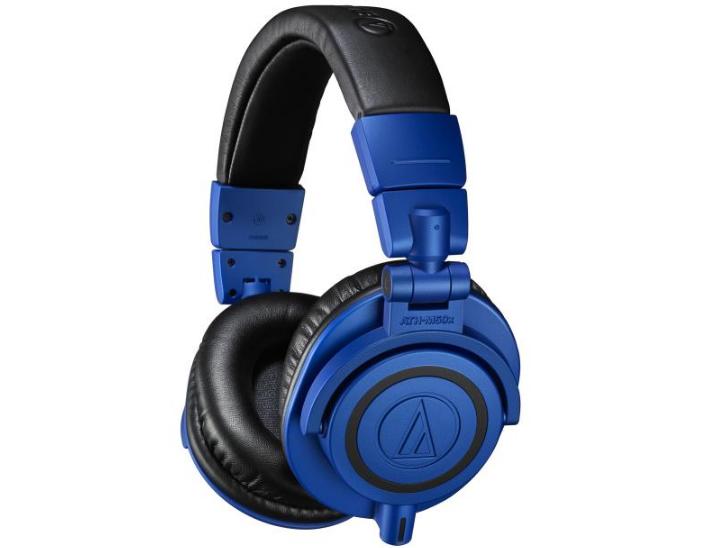 铁三角金属蓝+黑配色限量版 ATH-M50xBB 监听耳机上市