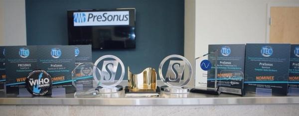 PreSonus:我们需要大一点的奖杯陈列柜……