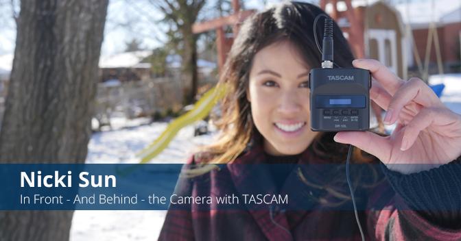 制作人Nicki Sun的设备亮点- TASCAM DR-10L