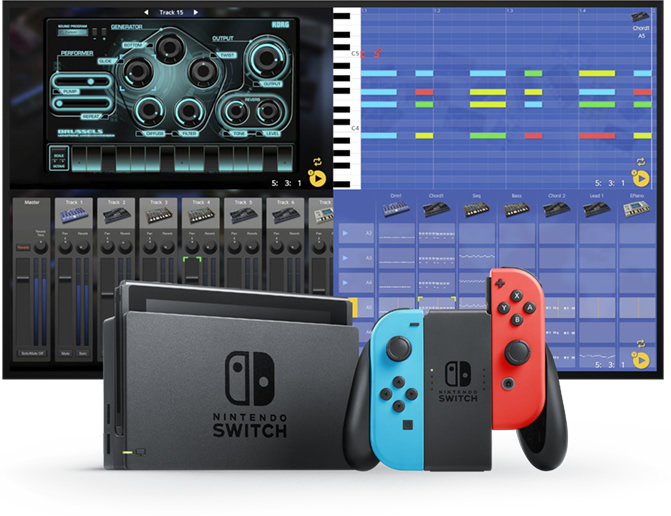 好哥们儿就要一起玩儿:KORG Gadget for Nintendo Switch 上市啦