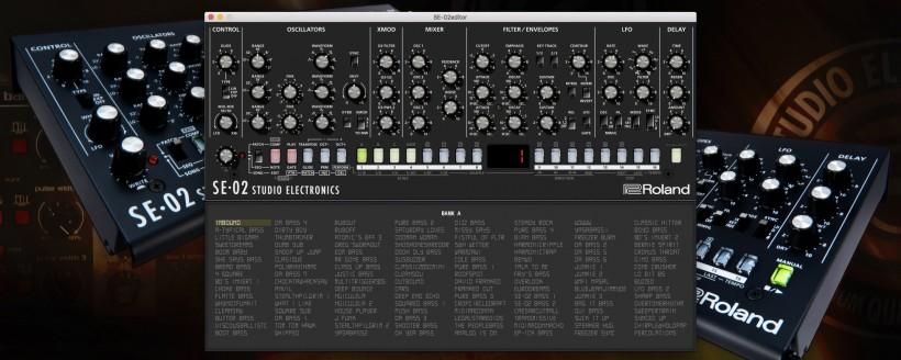 Studio Electronics 发布 Roland SE-02 专用独立软件编辑器软件
