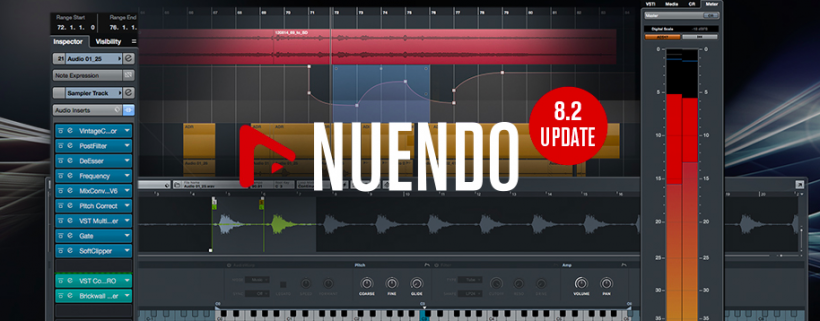 Steinberg 发布 Nuendo 8.2 升级,继续发力 VR Audio