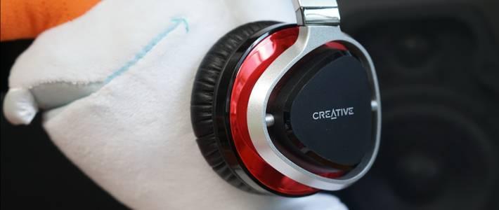为这一丝亮骚的红:CREATIVE 创新 Aurvana Live2 头戴耳机开箱