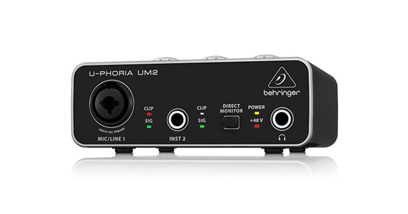 低价格录音解决方案,轻巧小黑盒,入门品质音频接口——Behringer UM2