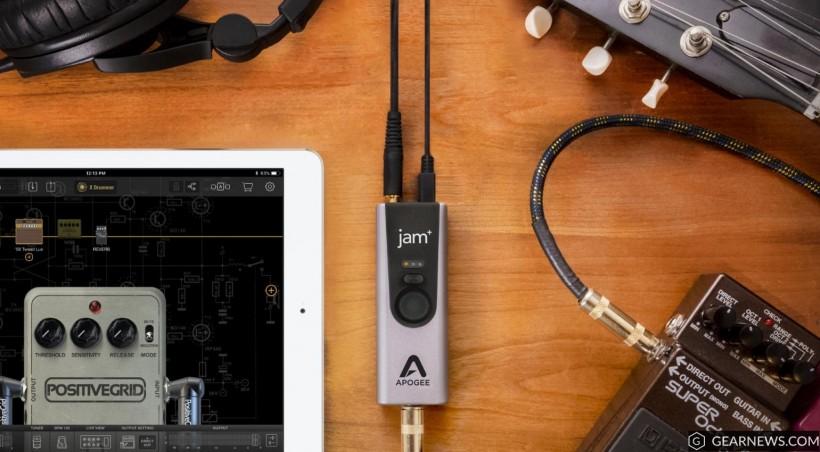 Apogee 升级 Jam 96k 到 Jam+ 音频接口:金属外壳,音质更佳