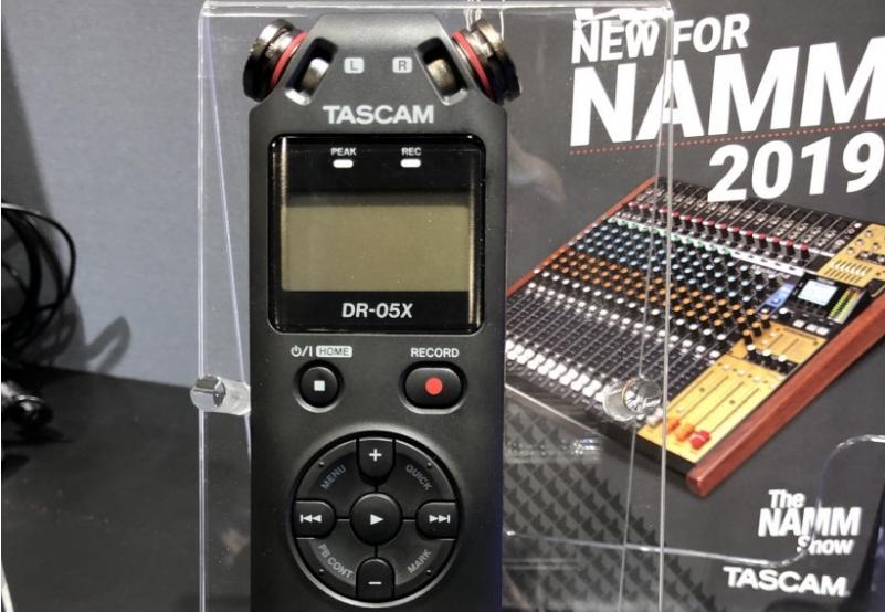 THE NAMM SHOW 2019 展会:Tascam 三款 DR-X 系列手持录音机一时间上手