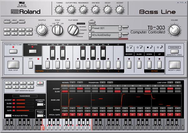 Roland 推出正宗 TB-303 插件版
