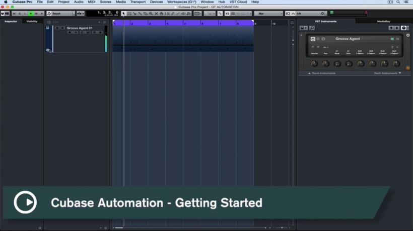 『中字教程』Cubase Pro 速攻小贴士:上手自动化处理,虚拟乐器自动化处理