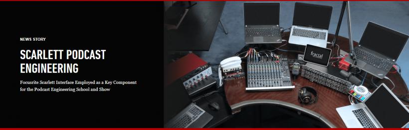 声卡的播客工程:Focusrite Scarlett 2i2专业录音USB外置声卡