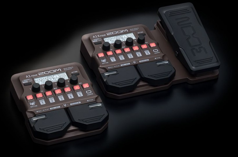 Zoom发布A1 Four和A1X Four多重踏板效果器,适用于原声乐器