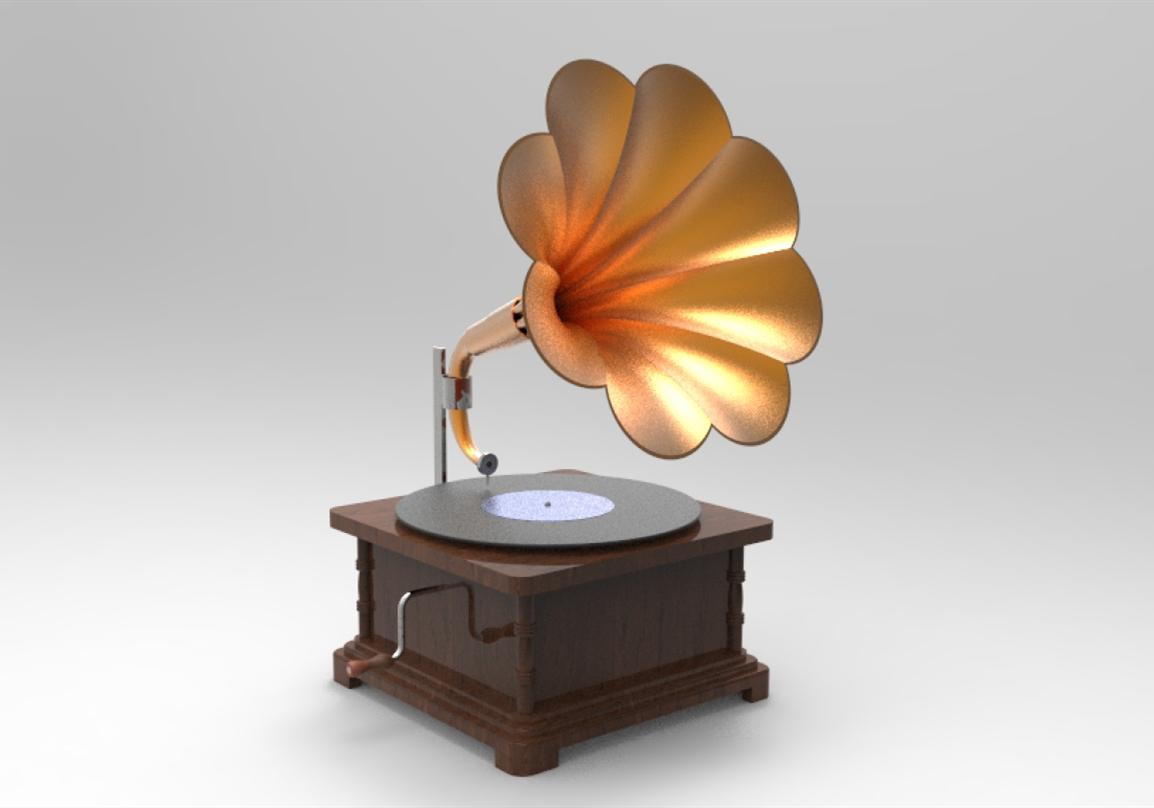 1887年的留声机 催生了喇叭的诞生