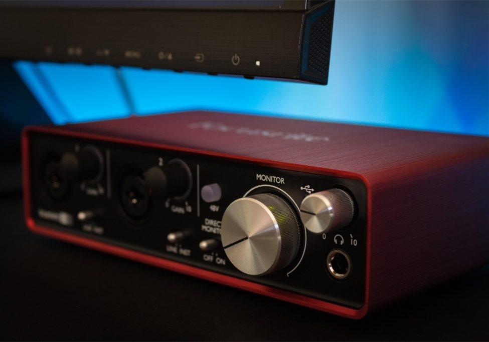 福克斯特Focusrite Scarlett solo 3代 声卡录音效果测试