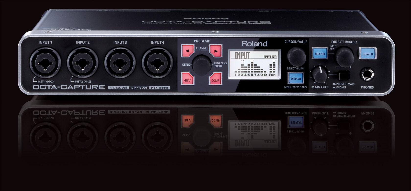 罗兰 Roland octa-capture 专业录音声卡 产品介绍/价格/驱动下载