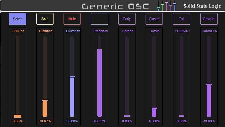 如何通过Solid State Logic Live调音台控制Spat Revolution进行沉浸式混音