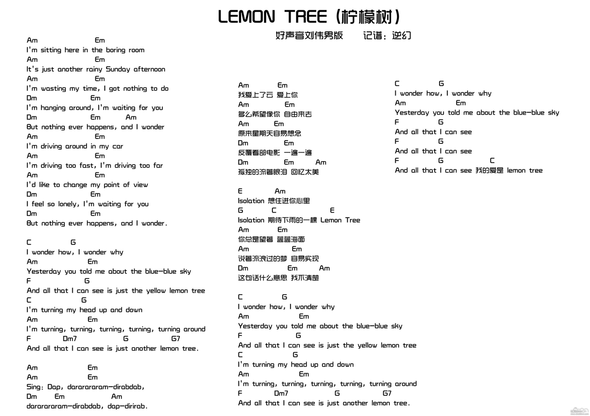 LEMON TREE柠檬树